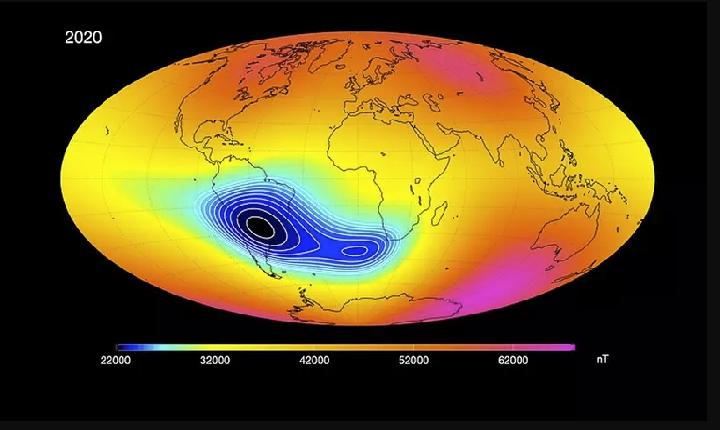 Anomalia Magnética no Sul e Sudeste do Brasil intriga cientistas