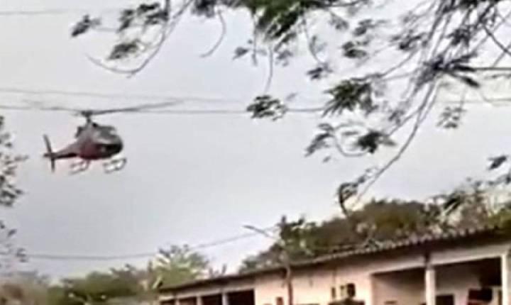 Bandidos sequestram helicóptero no Rio para tentar chegar a presídio