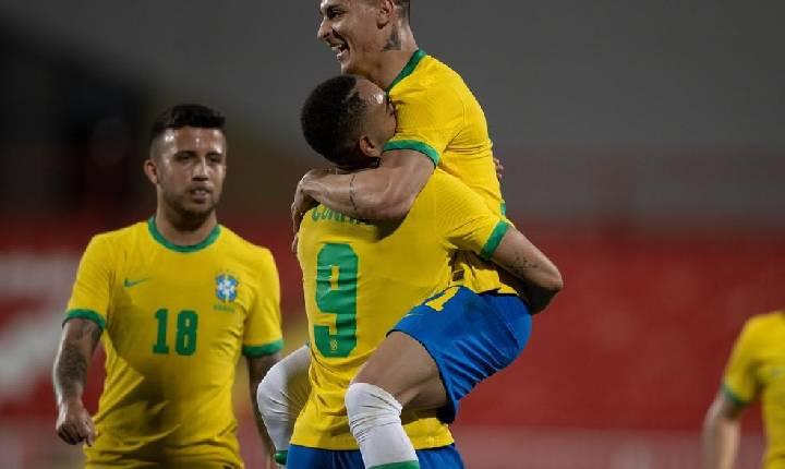Brasil quase se complica, mas vence Alemanha em estreia do futebol masculino
