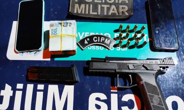 Chapadão do Sul: mulher é presa com pistola ameaçando outra no Esplanada
