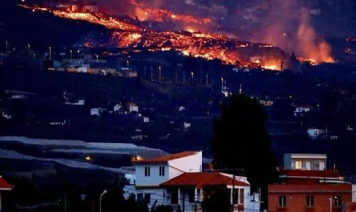 Lava de vulcão na Espanha cobre 166 hectares e destrói 350 imóveis