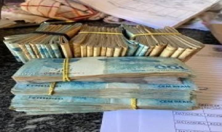 Polícia Civil apreende R$ 71 mil com suspeito de furto de 10 toneladas de soja, em Campo Alegre