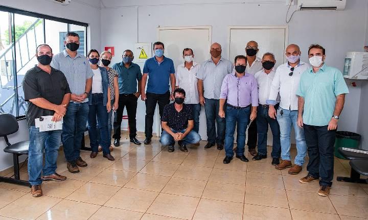 Visita da comitiva de São Simão comandada pelo Vice-prefeito Fábio Capanema e Vereadores