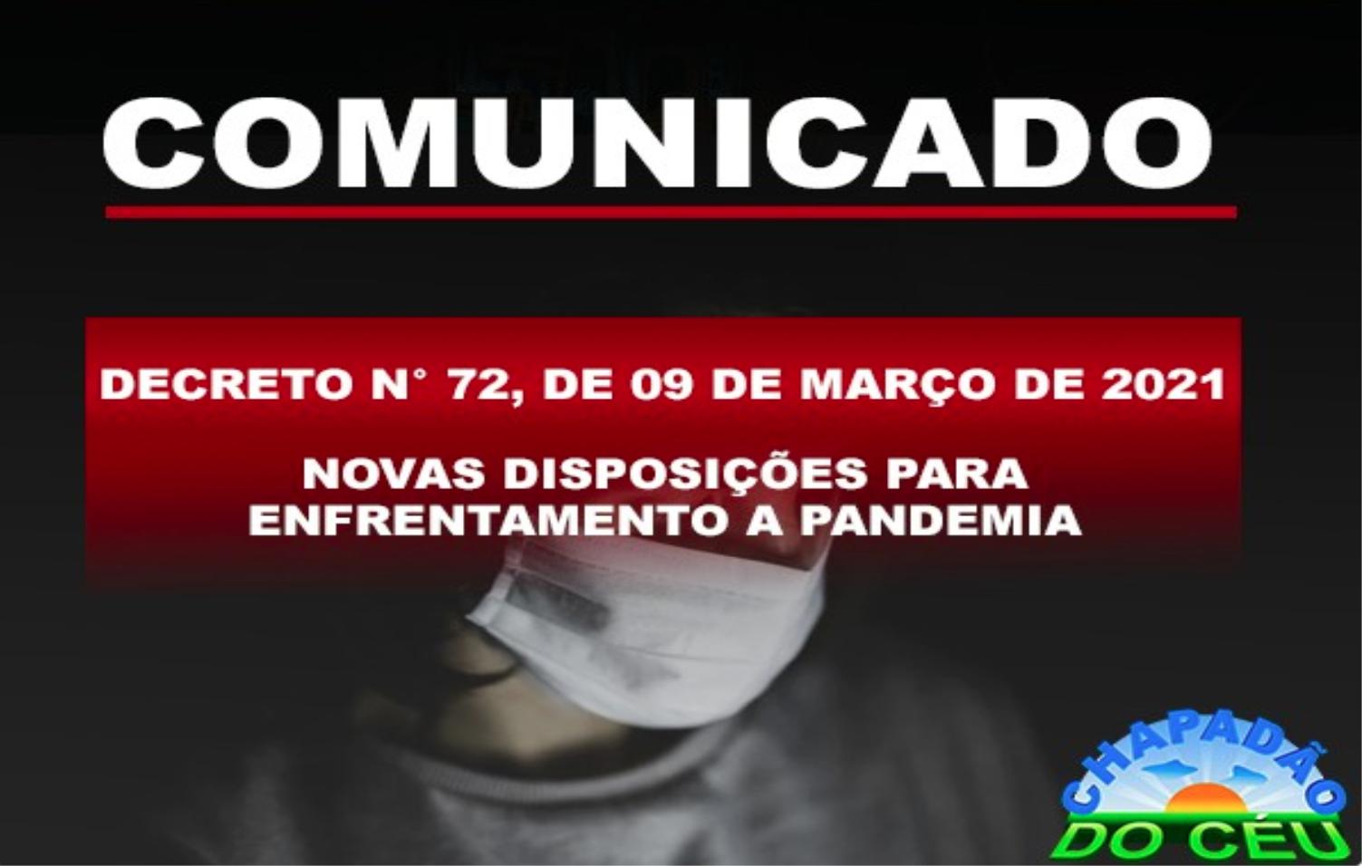 Prefeitura Publicou Novo Decreto para enfrentamento a pandemia